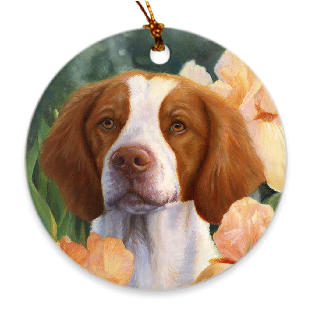 Brittany Christmas Ornament