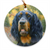"Gordon Setter ""Exhilaration"" Christmas Ornament"