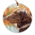 "Flat Coated Retriever ""Colors"" Christmas Ornament"