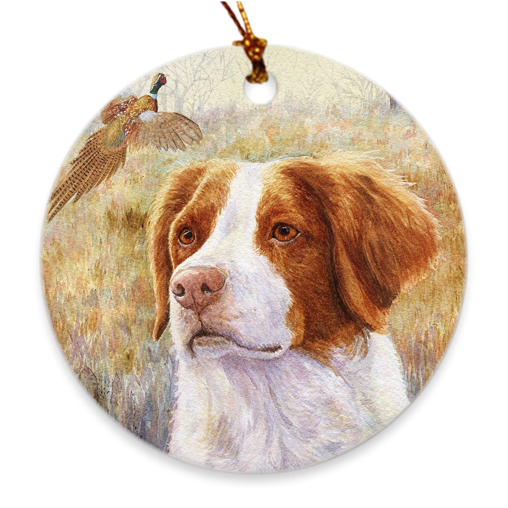 "Brittany ""Head Study"" Christmas Ornament"