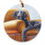 "Flat Coated Retriever ""Master's Chair"" Christmas Ornament"