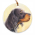 "Gordon Setter ""Head Study"" Christmas Ornament"