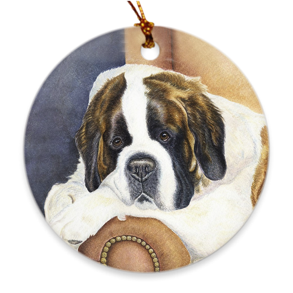 "Saint Bernard ""Dad's Chair"" Ornament"
