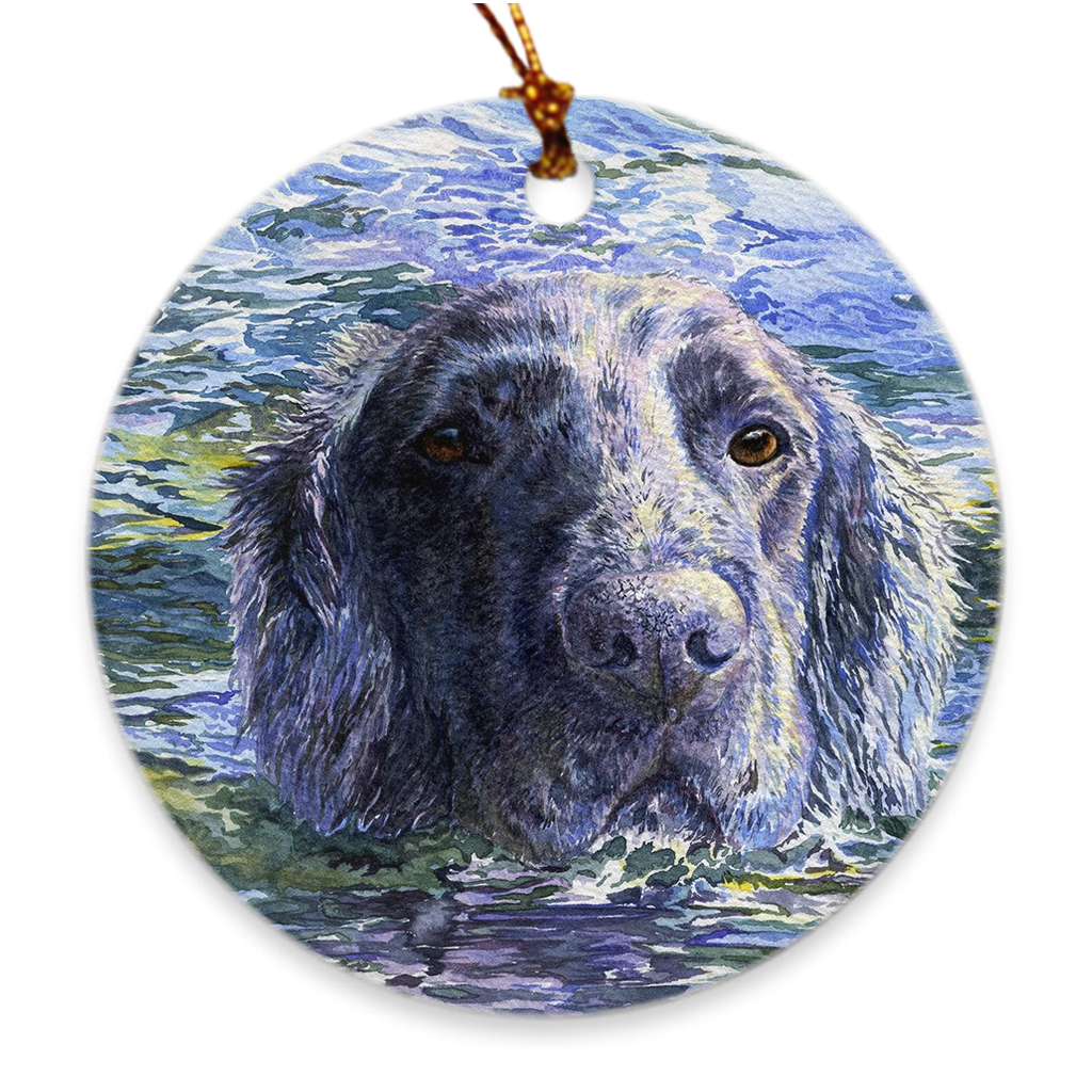 "Flat Coated Retriever ""Water Dog"" Christmas Ornament"