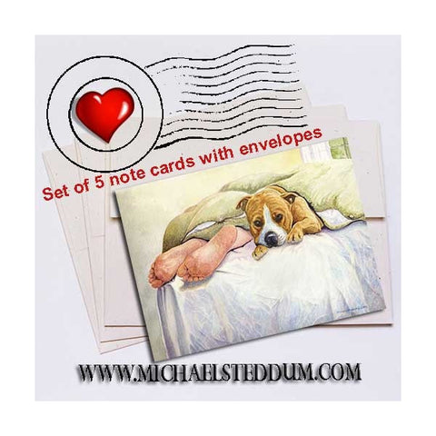 Amstaff Feet 	American Staffordshire Terrier Note Card Set