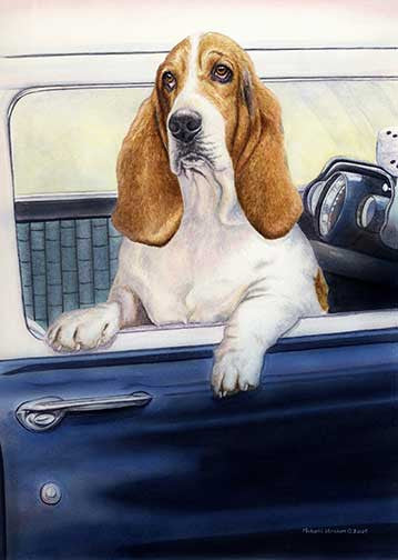 """Don't Forget the Biscuits"" A Limited Edition Basset Hound Print"