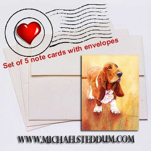 Basset Hound II Note Card Set