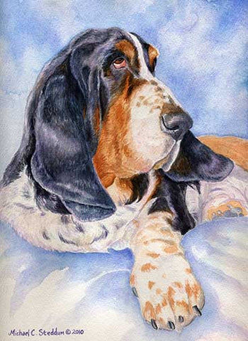 """Basset Hound Head Study VI"" Limited Edition Print"