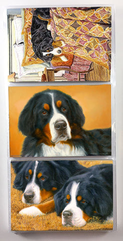 Bernese Mountain Dog Refrigerator Magnet Set
