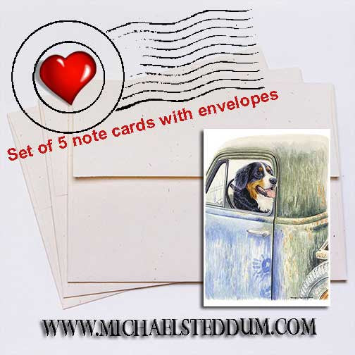 Be Back in a Minute Bernese Mountain Dog Note Card Set