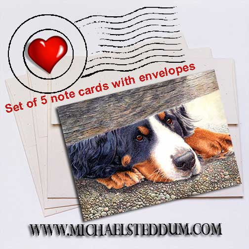 The Watchman Bernese Mountain Dog Note Card Set