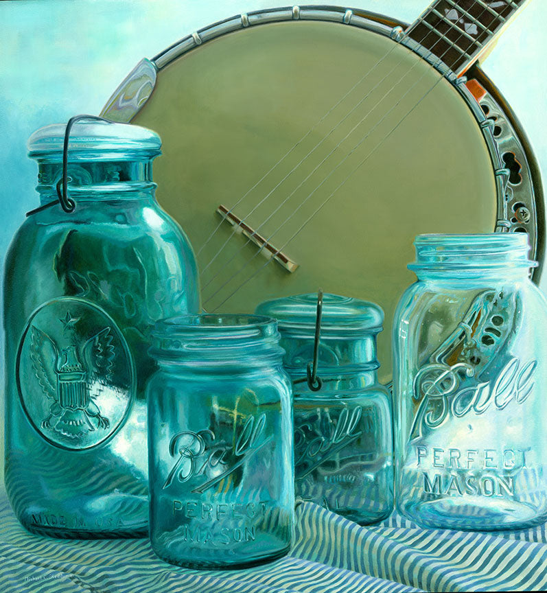 """Blueglass"" Original Oil Painting"