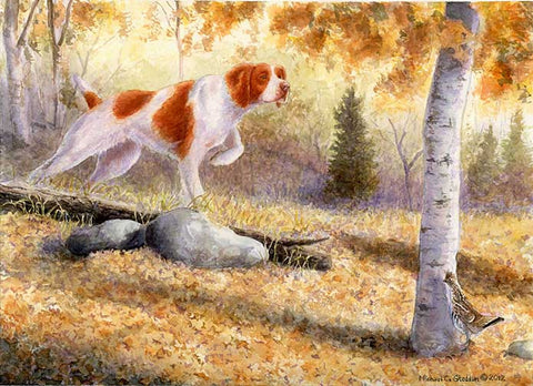 """Grouse Scent"" A Limited Edition Brittany Print"