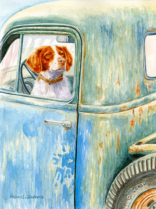 """Ready To Go"" A Limited Edition Brittany Print"