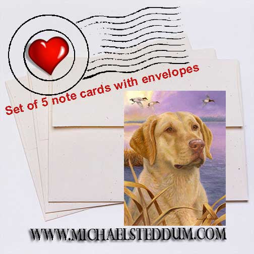 Dawn Patrol, Chesapeake Bay Retriever Note Card Set