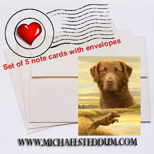 Honor & Duty, Chesapeake Bay Retriever Note Card Set
