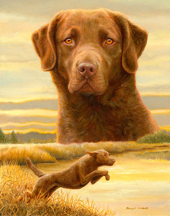 """Honor & Duty"" A Limited Edition Chesapeake Bay Retriever Print"