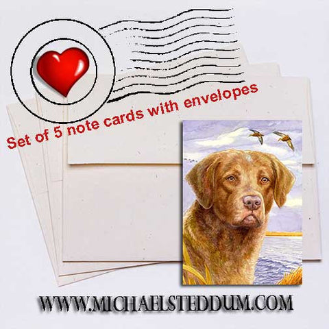 Working Dog, Chesapeake Bay Retriever Note Card Set