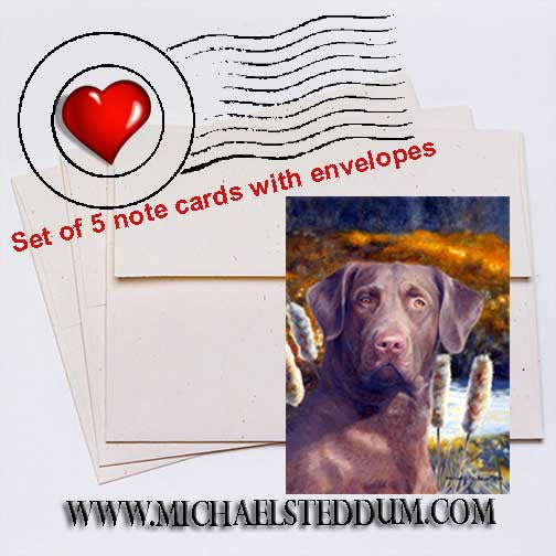Ready for the Hunt Chesapeake Bay Retriever Note Card Set