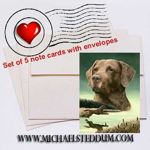 Entry, Chesapeake Bay Retriever Note Card Set