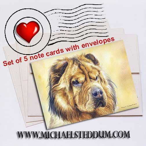 Chinese Shar-Pei Note Card Set