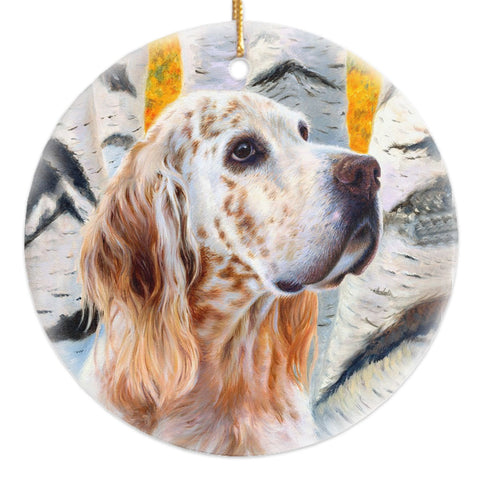 "English Setter ""Coalesce"" Christmas Ornament"