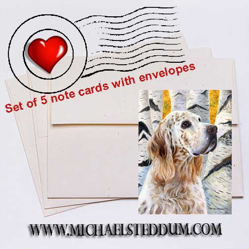 Coalesce, English Setter Note Card Set