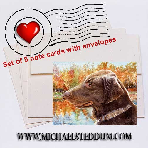 """Colors"" Flat Coated Retriever Note Card Set"