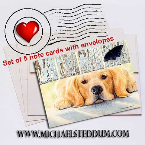 Get It Golden Retriever Note Card Set