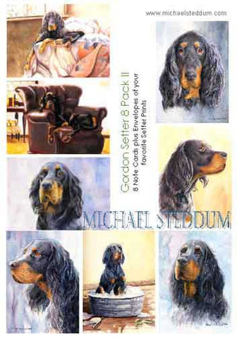 """Gordon Setter 8 Pack II Note Card Set"""