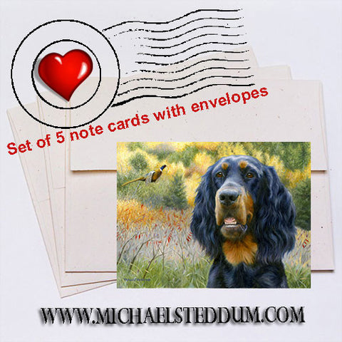"""Exhilaration"" Gordon Setter Note Card Set"