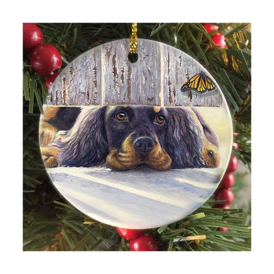 "Gordon Setter ""Get It"" Christmas Ornament"