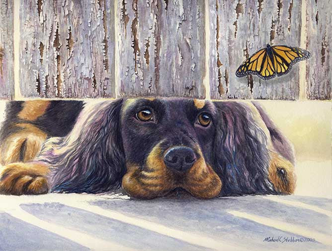 """Get It"" A Limited Edition Gordon Setter Print"