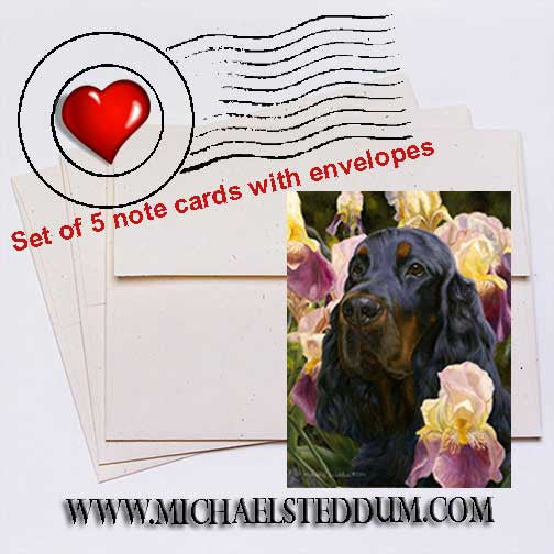 Grace & Beauty, Gordon Setter Note Card Set