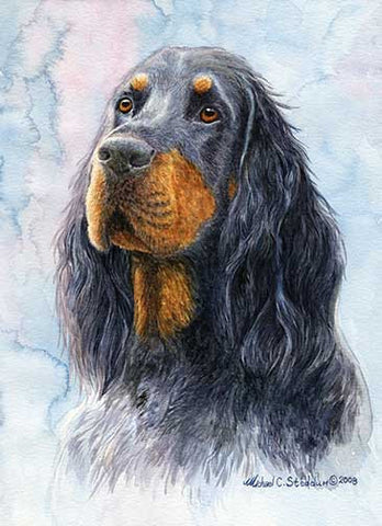 """Gordon Setter Head Study V"" A Limited Edition Print"