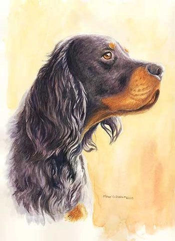 """Gordon Head Study"" A Limited Edition Gordon Setter Print"