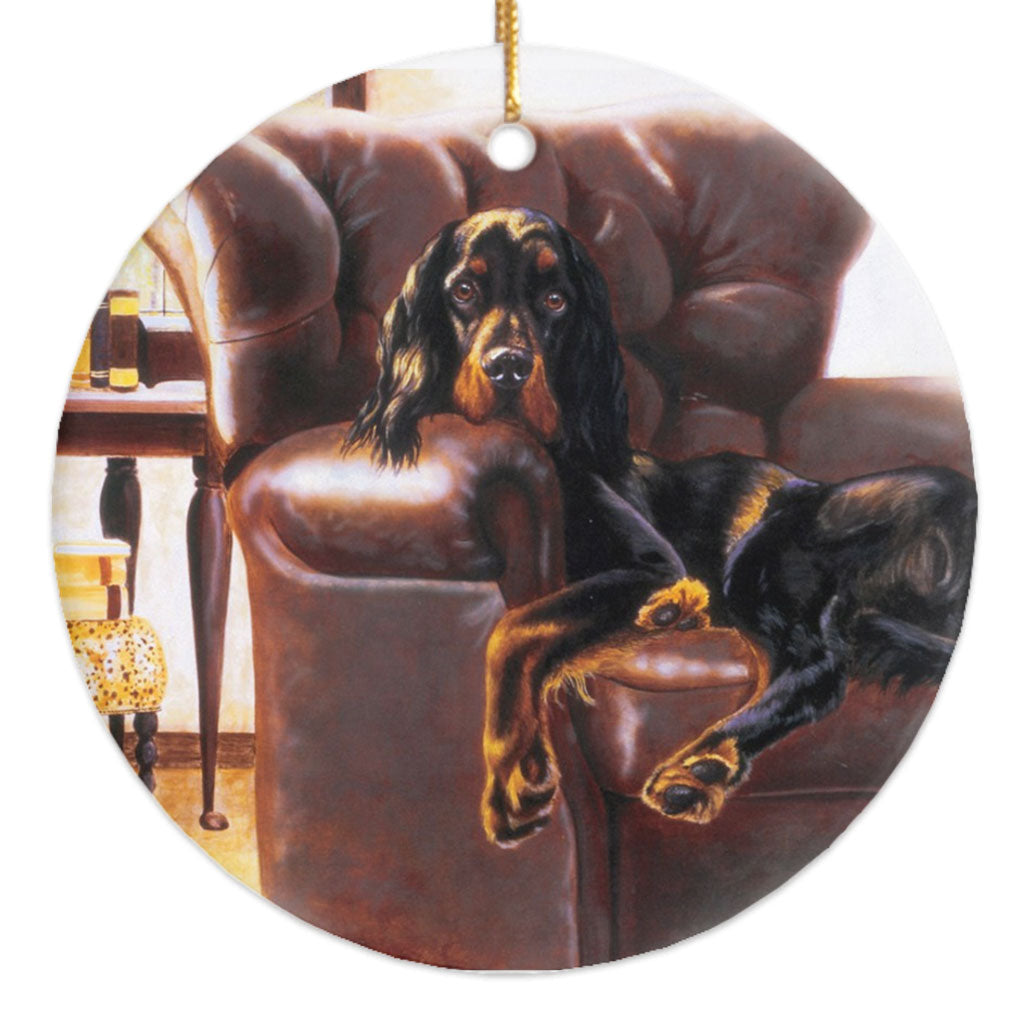 "Gordon Setter ""Master's Chair"" Christmas Ornament"