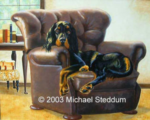 """Master's Chair"" A Limited Edition Gordon Setter Print"