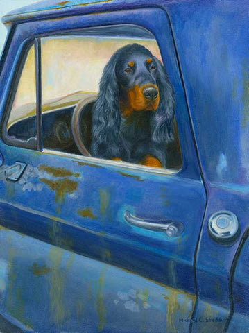"""Rusty's Blue"" A Limited Edition Gordon Setter Print"