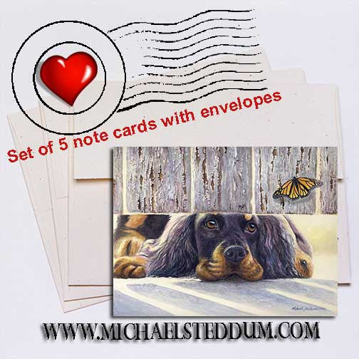 Get It, Gordon Setter Note Card Set