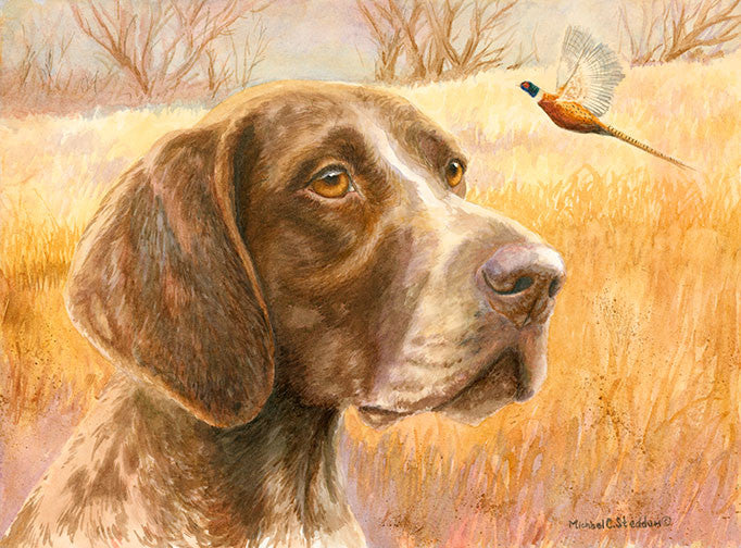 """Fall"" A Limited Edition German Shorthaired Pointer Print"