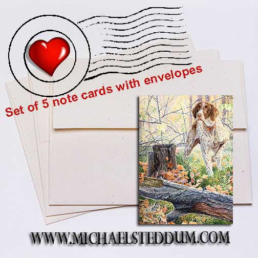 The Detective German Shorthaired Pointer Note Card Set