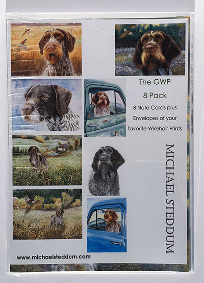 German Wirehaired Pointer 8 Pack Note Card Set