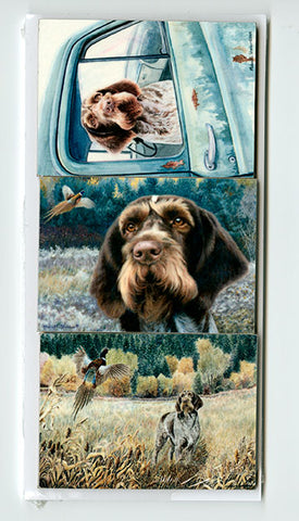 German Wirehaired Pointer Refrigerator Magnet Set
