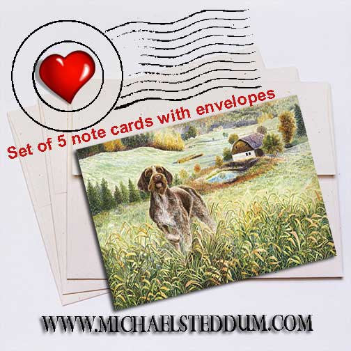 Wirehair Farm German Wirehaired Pointer Note Card Set