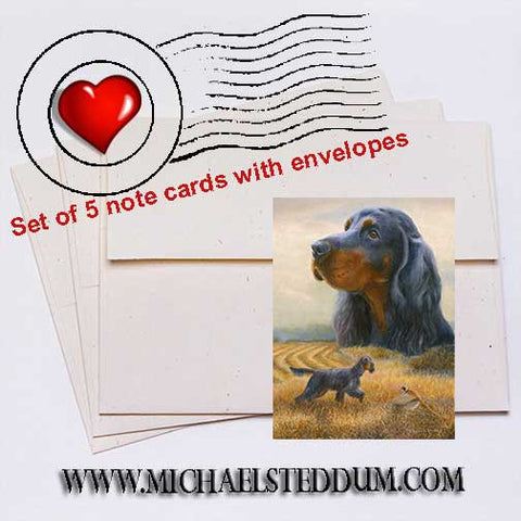 Autumn, Gordon Setter Note Card Set