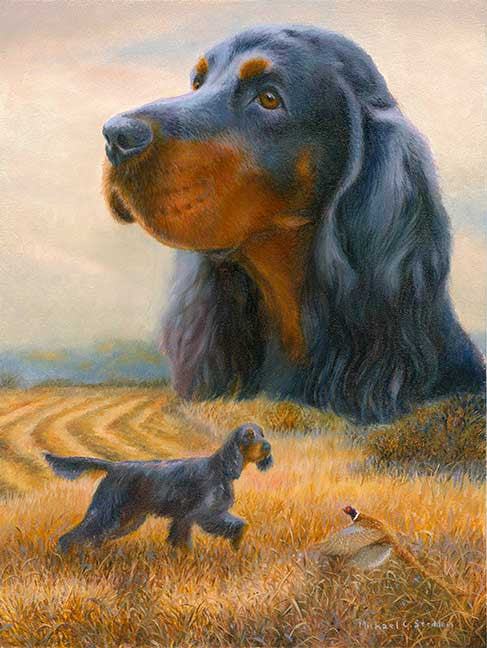 Autumn, A Limited Edition Gordon Setter Print