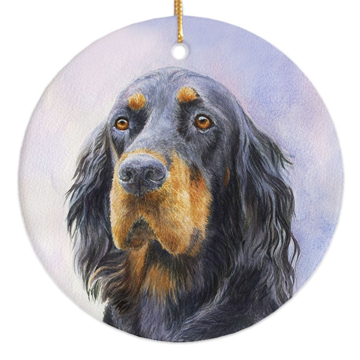 "Gordon Setter ""Love"" Christmas Ornament"