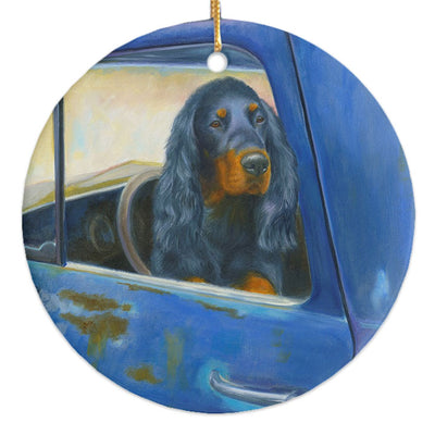 "Gordon Setter ""Rusty's Blue"" Christmas Ornament"