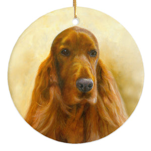 "Irish Setter ""Marvelous"" Christmas Ornament"